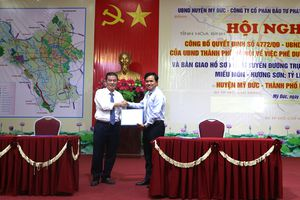 Xây dựng tuyến đường Miếu Môn - Hương Sơn (huyện Mỹ Đức)