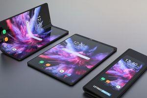 Lộ ảnh thiết kế smartphone màn hình gập Galaxy F