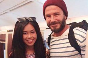 Cô gái Việt xinh đẹp chụp ảnh cùng David Beckham là ai?