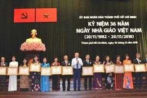 Ngành giáo dục TP Hồ Chí Minh kỷ niệm 36 năm Ngày Nhà giáo Việt Nam