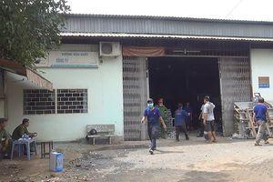 Xưởng cơ khí ở Bình Chánh phát hỏa, 2 công nhân bị bỏng