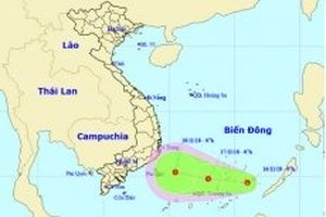 Xuất hiện vùng áp thấp ở nam Biển Đông
