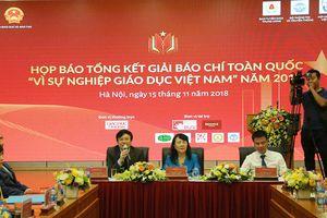 Công bố kết quả giải Báo chí 'Vì sự nghiệp giáo dục Việt Nam'