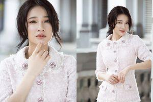 Nabi Nhã Phương gợi ý cách chọn vải tweed xu hướng đón Đông 2018