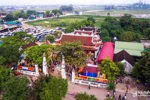 Hàng ngàn người dân và du khách về dự lễ hội Đền Hoàng Mười
