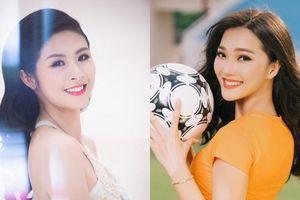 Tuyển Việt Nam gặp Malaysia: Hoa hậu Ngọc Hân, Top 10 HHHV Ngọc Nữ nhắn nhủ điều bất ngờ