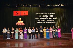 Sở GD& ĐT TP. HCM Kỷ niệm 36 năm Ngày Nhà giáo Việt Nam