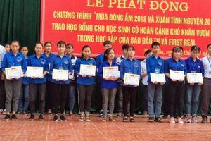 Học bổng 'Vì trẻ em Việt Nam' đến với học sinh nghèo vượt khó tại thị xã Thái Hòa, Nghệ An