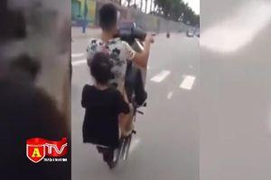 Tai nạn kinh hoàng từ những cú bốc đầu xe máy