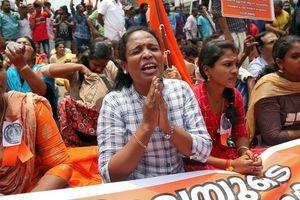 Xung đột âm ỉ ở Ấn Độ quanh chuyện phụ nữ bị cấm vào đền thiêng