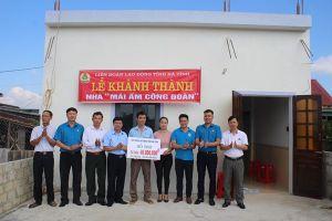 LĐLĐ Hà Tĩnh: Hỗ trợ 160 triệu đồng làm 5 nhà Mái ấm công đoàn