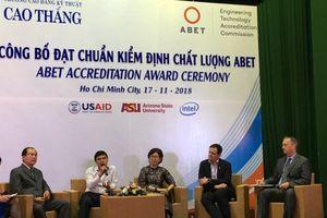Trường thứ 2 của Việt Nam đạt chuẩn kiểm định chất lượng ABET