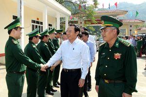 Bí thư Trung ương Đảng Nguyễn Văn Nên thăm và dự Ngày hội Đại đoàn kết tại biên giới Lào Cai