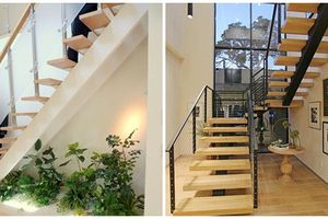 10 mẫu cầu thang tiết kiệm không gian nhà phố 2019