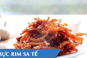Cách làm khô mực rim sa tế ăn quên sầu