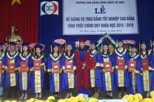 Cà Mau: 240 sinh viên Trường CĐ Cộng đồng nhận bằng tốt nghiệp