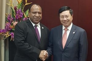 Phó Thủ tướng, Bộ trưởng Ngoại giao Phạm Bình Minh hội đàm với Bộ trưởng Ngoại giao Papua New Guinea