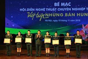Bế mạc Hội diễn nghệ thuật chuyên nghiệp toàn quân: Đoàn Văn công BĐBP đoạt Huy chương Bạc