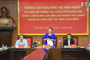 Chủ tịch Quốc hội làm việc với lãnh đạo chủ chốt tỉnh Thái Bình