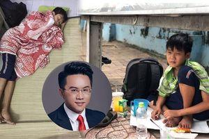 Cộng đồng mạng và câu chuyện 'Cậu bé ngủ cạnh sân vận động'