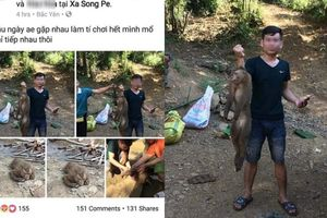 Thanh niên Sơn La giết và lấy máu khỉ còn khoe trên Facebook gây bức xúc