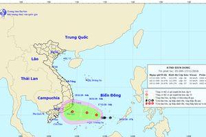 Áp thấp nhiệt đới trên khu vực quần đảo Trường Sa