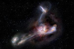 Thiên hà sáng nhất vũ trụ 'ăn thịt' ba đồng loại