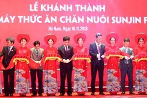 Hà Nam: Khánh thành nhà máy sản xuất thức ăn chăn nuôi
