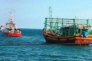 Cứu thành công 7 ngư dân và tàu cá Quảng Bình gặp nạn sau gần 7 ngày trên biển