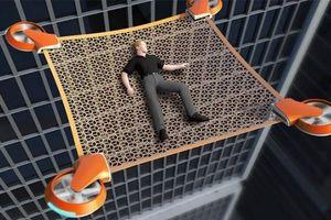 Độc đáo thiết bị bay không người lái cứu nạn trong sự cố nhà cao tầng
