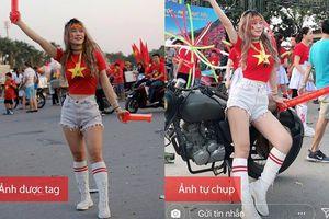 Sốc: Nữ sinh được xách phong 'nữ thần phòng Gym' lộ chân ngắn và nhan sắc tầm thường khi đi cổ vũ AFF Cup