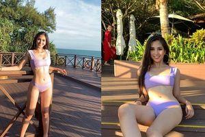 Ngắm body hoàn hảo siêu đã mắt của Hoa hậu Tiểu Vy trong bộ bikini mỏng manh