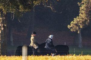 Nữ hoàng Anh 92 tuổi vẫn cưỡi ngựa chiều thu gây 'sốt'