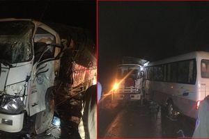 Xe khách đấu đầu xe tải, 6 người bị thương ở Lóng Luông, Sơn La