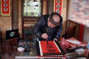 Triển lãm Thư pháp và Tranh thủy mặc tại hồ Văn - Văn Miếu