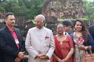 Tổng thống Ấn Độ tham quan khu Thánh địa Mỹ Sơn