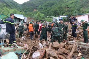 14 người chết và mất tích do sạt lở núi
