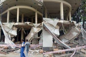 Làm rõ nguyên nhân sập ban công nhà 2 tầng khiến 2 người trọng thương