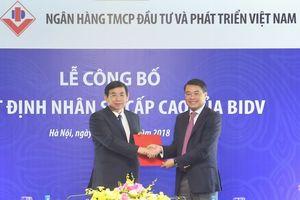 Chủ tịch Phan Đức Tú đại diện 40% vốn nhà nước tại BIDV