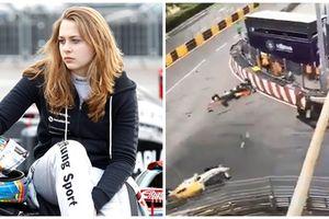Tai nạn đường đua kinh hoàng ở Macau - Nữ tay đua xinh đẹp gãy cột sống, nhiều người khác bị thương