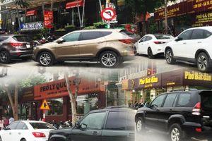Đường Võ Chí Công bị chiếm dụng thành bãi đỗ xe