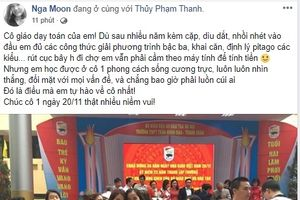 Những lời chúc mừng thầy cô ngày 20/11 'đốn tim' cộng đồng mạng