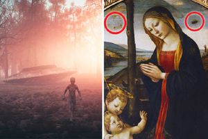 Vật thể nghi UFO và người ngoài hành tinh trong bức tranh Trung Cổ