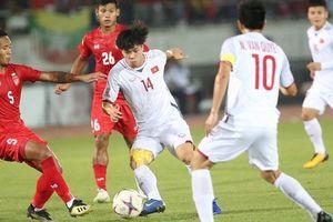 Đáng tiếc, đội tuyển Myanmar cầm hòa đội tuyển Việt Nam trên sân nhà