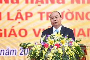 Thăm lại trường xưa, Thủ tướng Nguyễn Xuân Phúc mong học sinh phát triển toàn diện 'đức, trí, thể, mỹ'