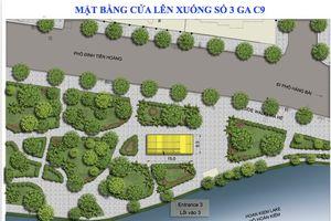 Hà Nội: Chưa chốt vị trí ga ngầm C9 của tuyến đường sắt đô thị số 2