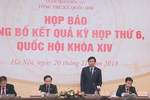 Kỳ họp thứ 6, Quốc hội khóa XIV hoàn thành chương trình đề ra với nhiều nội dung quan trọng