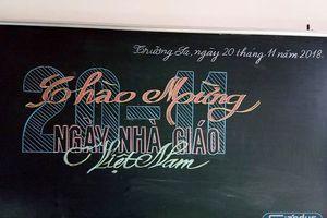 Ngày Nhà giáo Việt Nam trên đảo Trường Sa