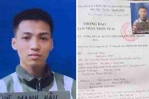 Phạm nhân tù chung thân tội giết người trốn trại giam Bộ Công an