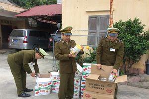 Thu 150 kg hồng quả sấy khô nhập lậu